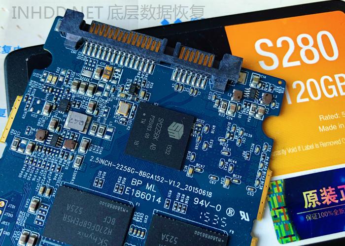 金泰克S280固态硬盘BIOS不认盘 SM2256K主控数据恢复