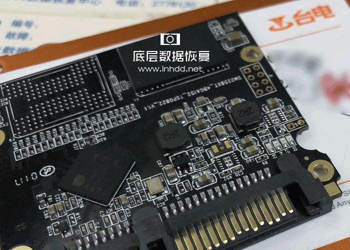 台电120G固态硬盘SM2258XT电脑无法识别数据恢复成功